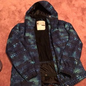 Galaxy print snowboarding jacket